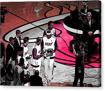 Canvas Print featuring the photograph Lebron's 1st Ring by J Anthony