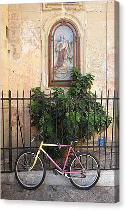 Lecce Italy Bicycle Canvas Print by John Jacquemain