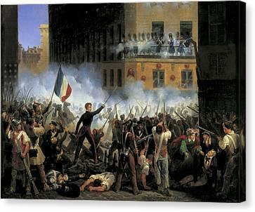 Lecomte, Hippolyte 1781-1857. Fight Canvas Print by Everett