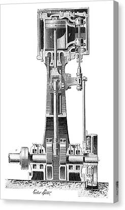 1880s Canvas Print - Lecouteux-garnier Engine by Science Photo Library