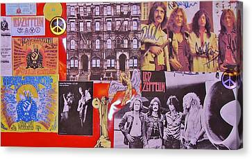 Led Zeppelin  Collage Number Two Canvas Print by Donna Wilson