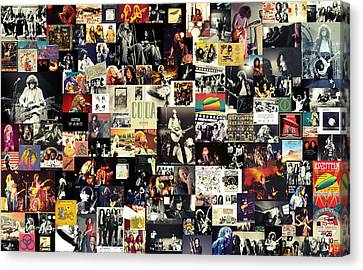 Roll Canvas Print - Led Zeppelin Collage by Taylan Apukovska