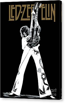 Led Zeppelin Artwork Canvas Print - Led Zeppelin No.06 by Caio Caldas