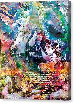 Led Zeppelin Original Painting Print  Canvas Print by Ryan Rock Artist
