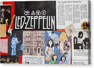 Led Zeppelin Past Times Canvas Print by Donna Wilson