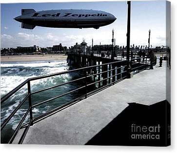 Led Zeppelin Artwork Canvas Print - Led Zeppelin - The Beach by RJ Aguilar