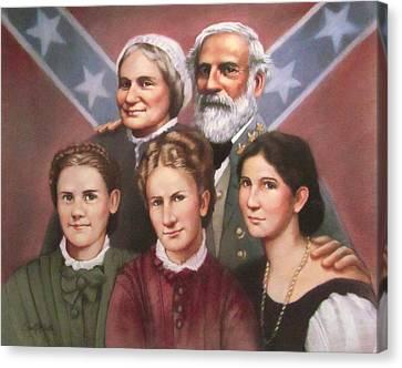 Lee And His Ladies Canvas Print by Janet McGrath