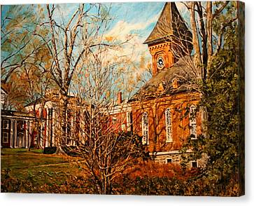 Lee Chapel From The Lower Walk Canvas Print by Thomas Akers