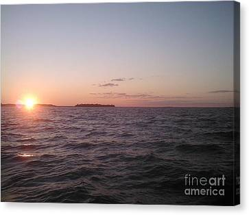 Leech Lake Sunset Canvas Print