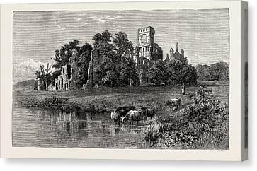 Leeds, Kirkstall Abbey Canvas Print by English School