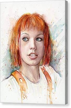 Leeloo Portrait Multipass The Fifth Element Canvas Print by Olga Shvartsur