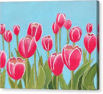 Leen Van Der Mark Tulips Canvas Print