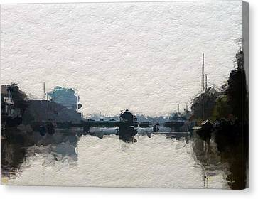 Leer Harbor  Canvas Print by Steve K