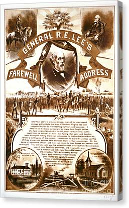 Lee's Farewell Address 1865 Canvas Print by Padre Art
