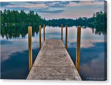 Lees Mills Dock Canvas Print