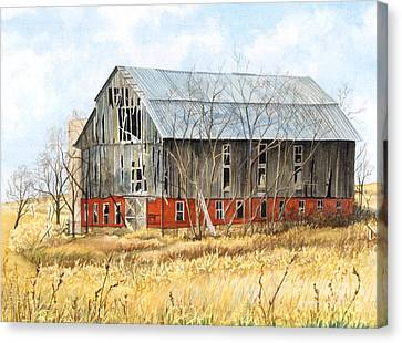 Pennsylvania Barns Canvas Print - Left Behind by Barbara Jewell
