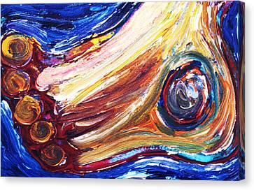 Left Foot Canvas Print by Matthew Brzostoski