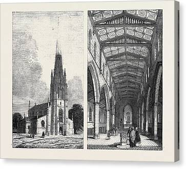 Left Image St. Marys New Church Canvas Print by English School