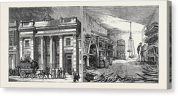 Left Image The Cutlers Hall Canvas Print by English School