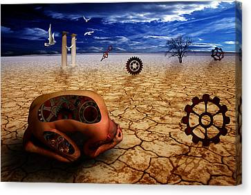 Left Me By Desert Canvas Print by Mark Ashkenazi