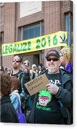 Legalisation Of Marijuana Rally Canvas Print by Jim West