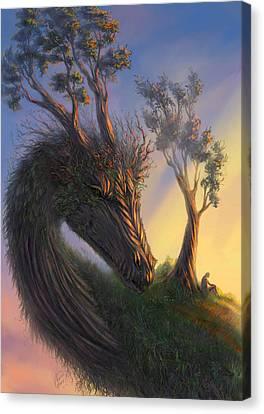 Legend Canvas Print by Katerina Romanova