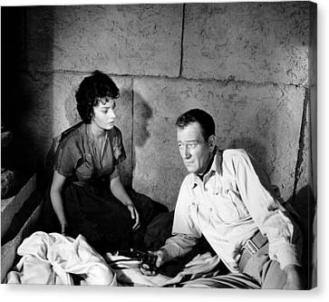 1950s Movies Canvas Print - Legend Of The Lost, From Left, Sophia by Everett