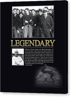 Legendary Knute Rockne Canvas Print by Retro Images Archive
