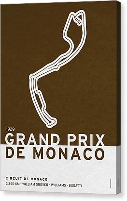 Legendary Races - 1929 Grand Prix De Monaco Canvas Print by Chungkong Art