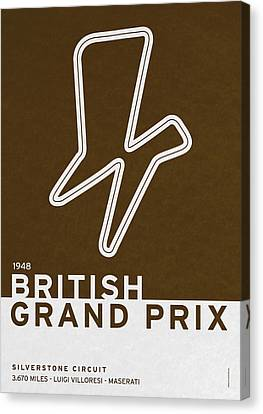 Legendary Races - 1948 British Grand Prix Canvas Print by Chungkong Art