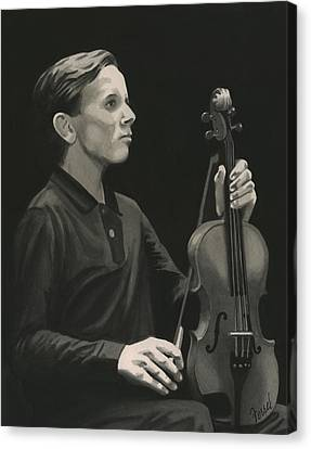 Canvas Print featuring the painting Legendary Violinist by Ferrel Cordle
