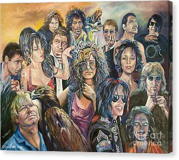 Roy Orbison Canvas Print - Legends by Paula Visnoski