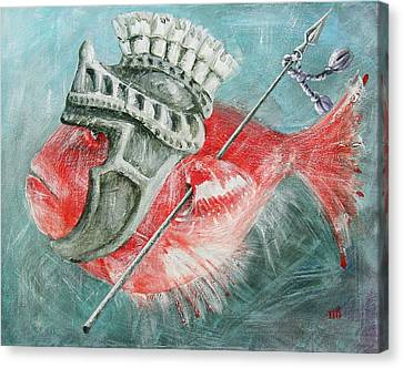 Canvas Print featuring the painting Legionnaire Fish by Marina Gnetetsky