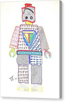 Lego Man Canvas Print by Troy Thomas