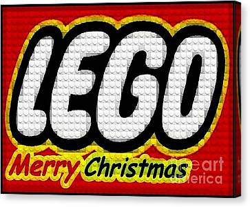 Lego Merry Christmas  Canvas Print by Scott Allison