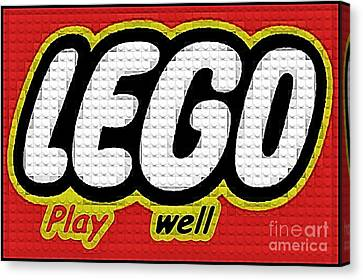 Lego Play Well Canvas Print by Scott Allison
