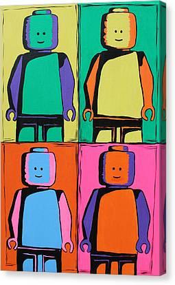 Lego Pop Art Man Canvas Print by Kaz Innes