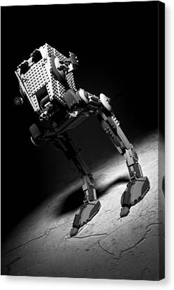 Lego Star Wars At-st Canvas Print by Samuel Whitton