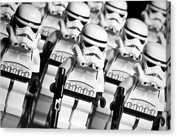 Lego Storm Trooper Army Canvas Print by Samuel Whitton