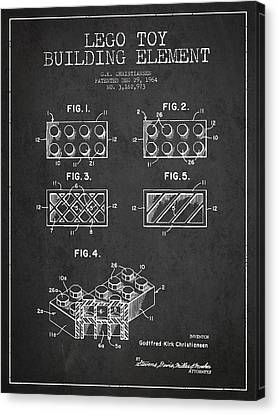 Lego Toy Building Element Patent - Dark Canvas Print by Aged Pixel