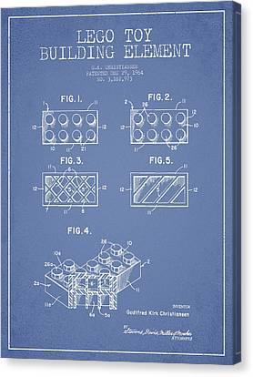 Lego Toy Building Element Patent - Light Blue Canvas Print