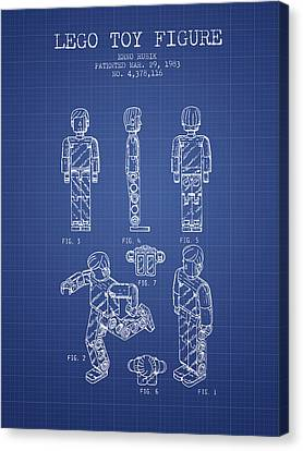 Lego Toy Figure Patent From 1983- Blueprint Canvas Print