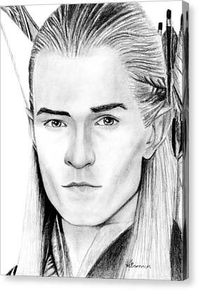 Orlando Bloom Canvas Print - Legolas Greenleaf by Kayleigh Semeniuk