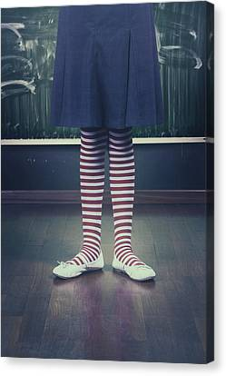 Legs Of A Schoolgirl Canvas Print by Joana Kruse
