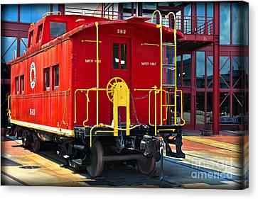 Lehigh New England Railroad Caboose 583 Canvas Print