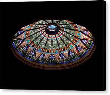 Lehigh University Linderman Library Rotunda Window Canvas Print by Jacqueline M Lewis