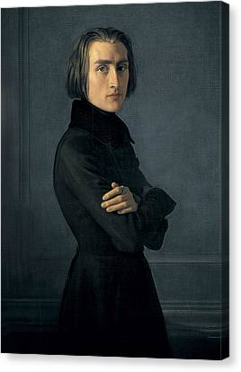 Lehmann, Heinri 1814-1882. Portrait Canvas Print by Everett