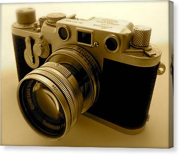 Leica Classic Film Camera Canvas Print by John Colley