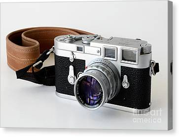 Leica M3 With Leather Strap Canvas Print by RicardMN Photography
