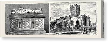 Leicester Bishop Pennys Tomb In St. Margarets Church Left St Canvas Print by English School